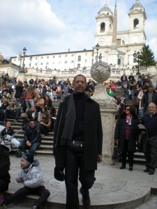 Dr. Ellis on the Spanish steps