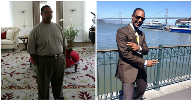Dr. Ellis before and after weight loss